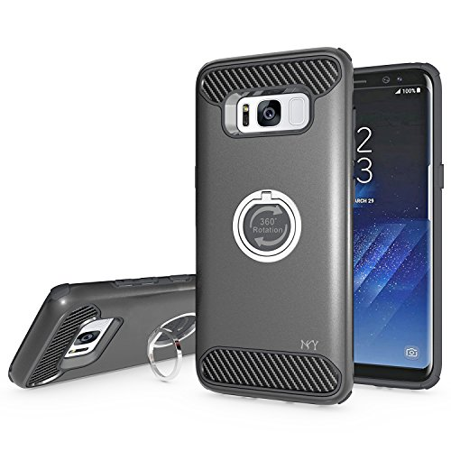 Galaxy S8 Case, Nuomaofly [Drop Protection] Hybrid Dual Layer Armor (Dual Layer Grip)