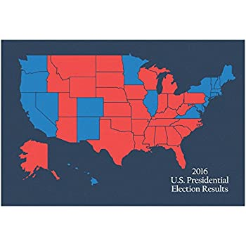 Us Presidential Voting Map Globalinterco - Map of us by red or blue 2016