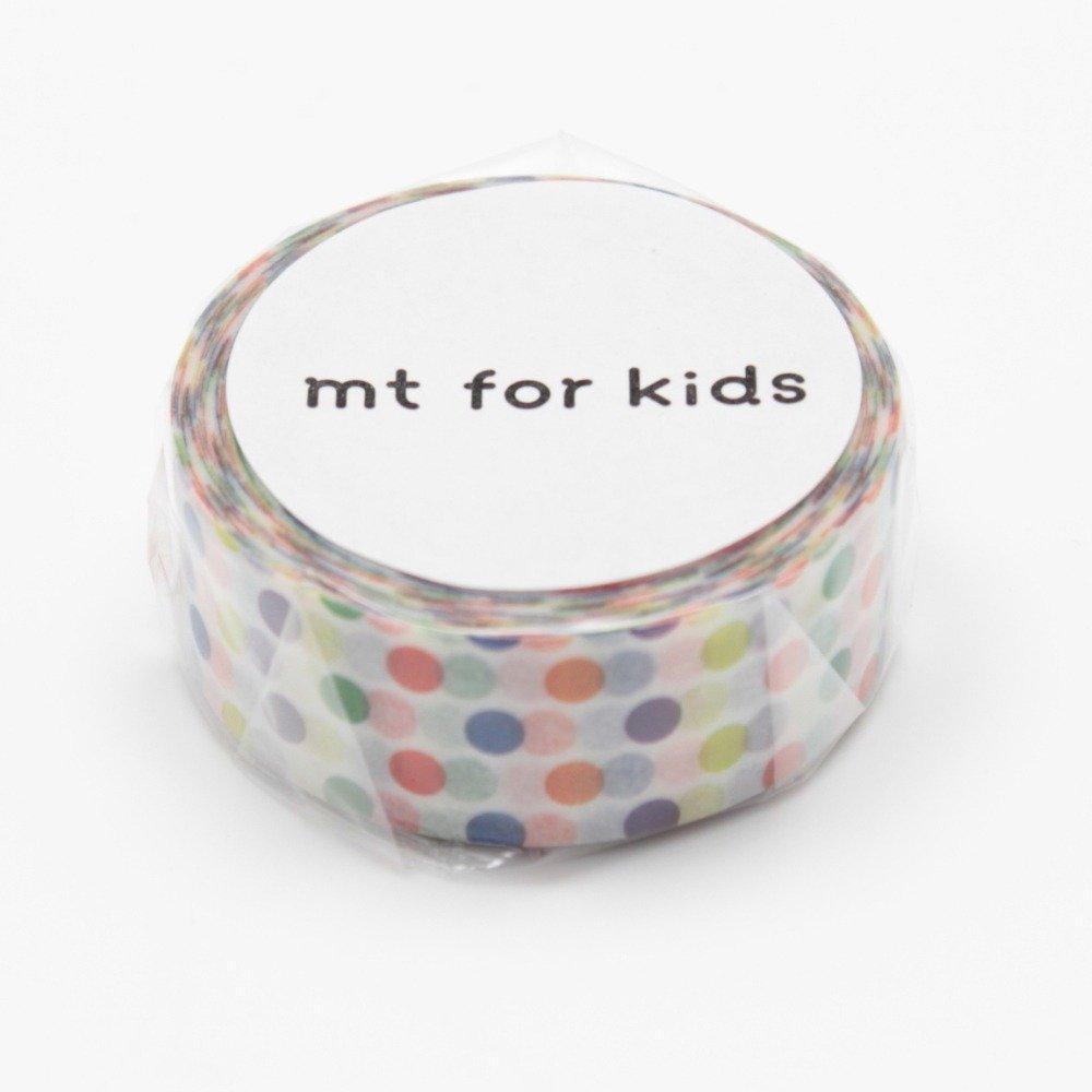 MT Japanese Washi Masking Tape, Kids Mini Roll Dots Rainbow (MT01KID002) MT Tape