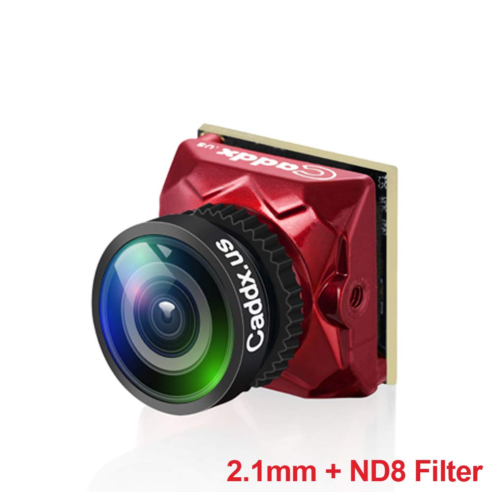 Crazepony FPV Camera Caddx Ratel 1200TVL Micro FPV Cam OSD Night Version 2.1mm Lens with ND8 Filter PAL/NTSC 16:9/4:3 Switchable for Brushless Whoop FPV Drone by Crazepony