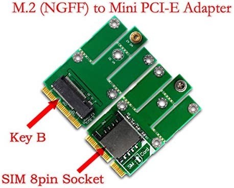 2G//3G Module to Mini PCI-E Adapter for CDMA GPS LTE Function NGFF Micro SATA Cables M.2