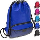 ButterFox Water Resistant Swim Gym Sports Dance Bag Drawstring Backpack Cinch Sack Sackpack Kids, Men Women, Waterproof Outer Shell Fabric