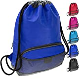 ButterFox Waterproof Swim PE Bag Gym Drawstring Sackpack Backpack for Kids, Men and Women with Dry/Wet Separation - Blue