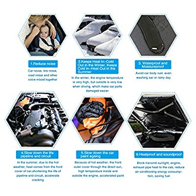 uxcell 197mil 10.76sqft Car Truck Floor Door Hood Sound Absorption Insulation Noise Deadener Cotton Black Mat 40