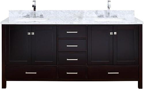 ARIEL Cambridge A073DCWRVOESP Double Rectangular Sink Bathroom Vanity Cabinet
