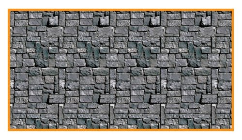 Beistle Stone Wall Backdrop Party Accessory | 4-Feet by 30-Feet | (1-Count) English Setter Accessories