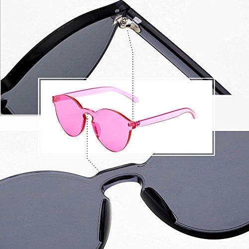 Œil Color Bozevon Lunettes Soleil Unisexe Intégrées C6 Chat De Uv400 Rose Candy Rouge 0wIqwS