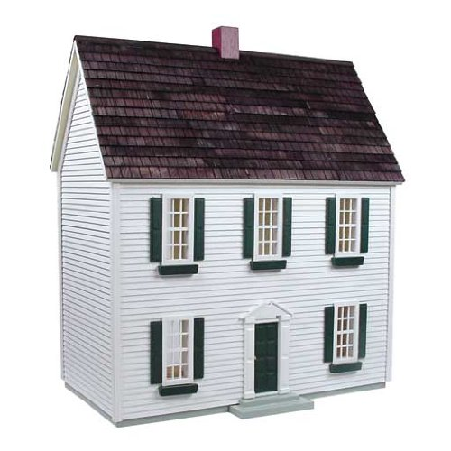 Real Good Toys Dollhouse Miniature 1/24 Scale Colonial Dollhouse Kit by RGT (Real Good Toys)
