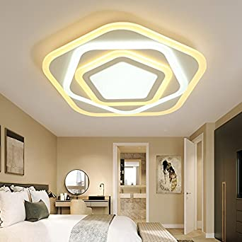 Ultra mince polygone chambre chaleureuse lampe led plafond lampe ...