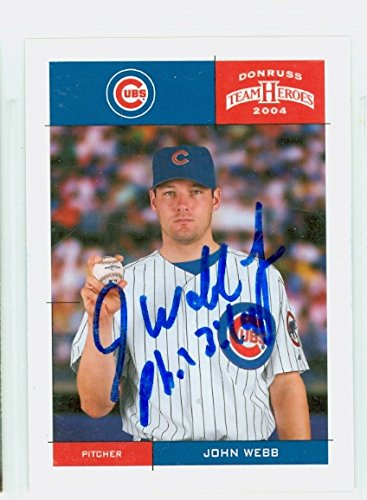 John Webb AUTOGRAPH 2004 Donruss Chicago Cubs by Autographed Baseball Cards (1990- )