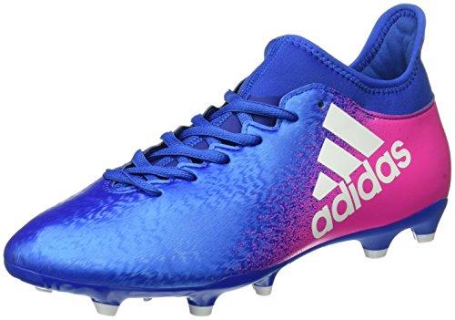 adidas X 16.3 Fg, Botas de Fútbol para Hombre Multicolor (Blue/ftwwht/shopin)