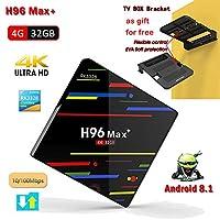 H96 MAX+ 4G 32G H2 Android 7.1 TV Box RK3328 Quad Core 4K Smart Tv VP9 HDR10 USB3.0 WiFi Bluetooth 4.0 Media Player