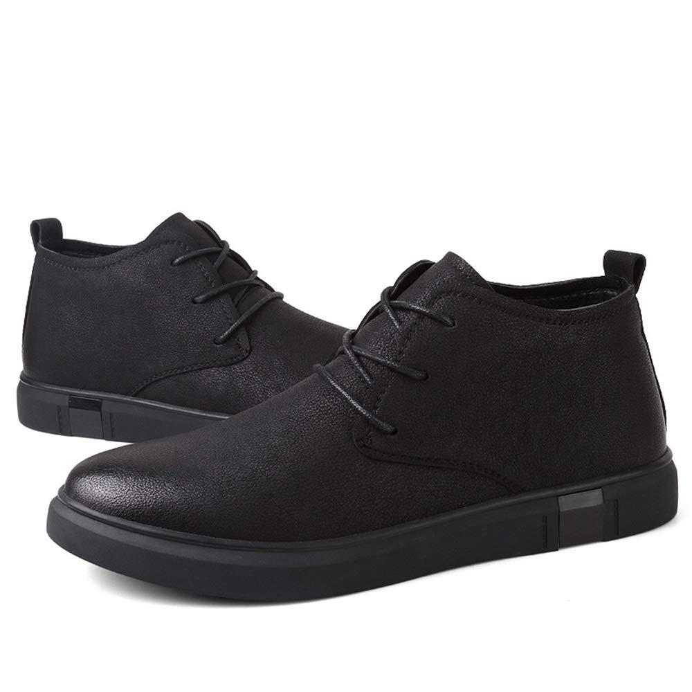 HILOTU Zapatos de Vestir Oxford de Cuero para Hombres Botas Casuales de Negocios con Cordones Zapatillas Bajas de Moda para Hombre (Color : Negro, ...