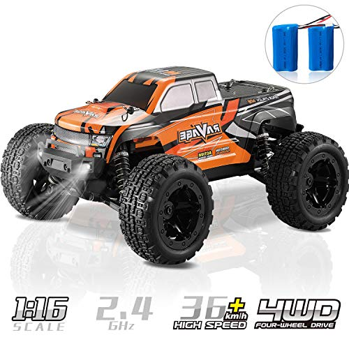 RC Truck, KOOWHEEL 1:16 Scale RC Car 36km/h 4WD Off Road Remote Control Monster Truck All Terrain Trucks Toys for Kids and Adults