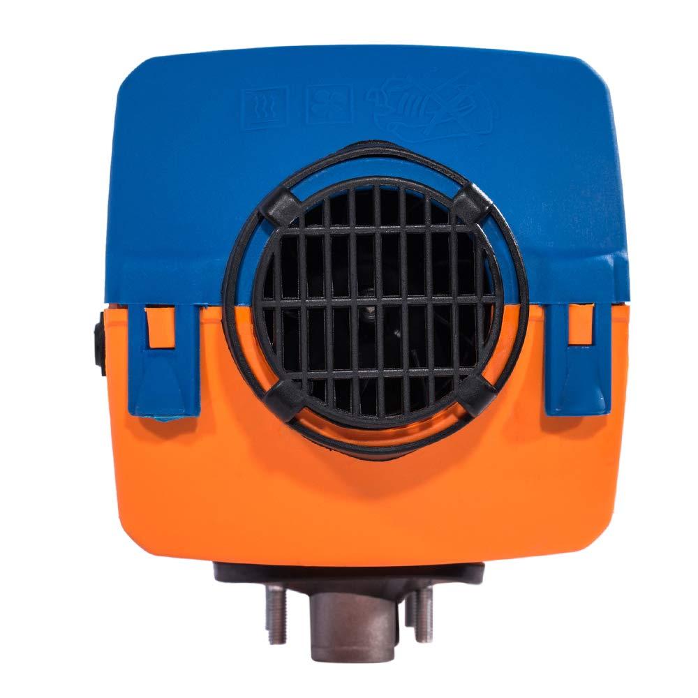 TABODD New 24V Air Diesel Fuel Heater 5KW Vehicle Heater Digital Switch Silencer 5000W for Trucks Boats Bus Car Motor-Homes Black