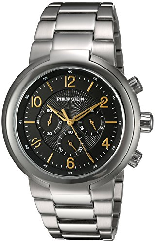 Philip Stein Men's 'Active' Quartz Stainless Steel Casual Watch, Color:Silver-Toned (Model: 32-ABG-SS)