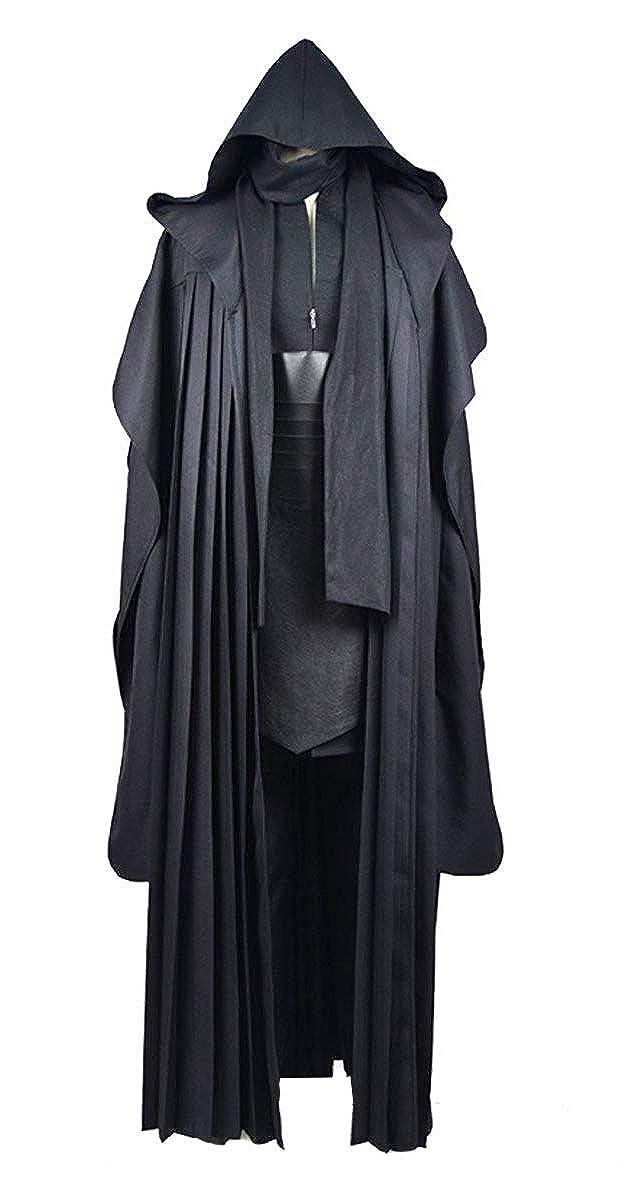 Qian Qian Erwachsene Tunic Cosplay Kostüm Mit Kapuze Robe Outfits Halloween Ritter Umhang Schwarzb 3XL