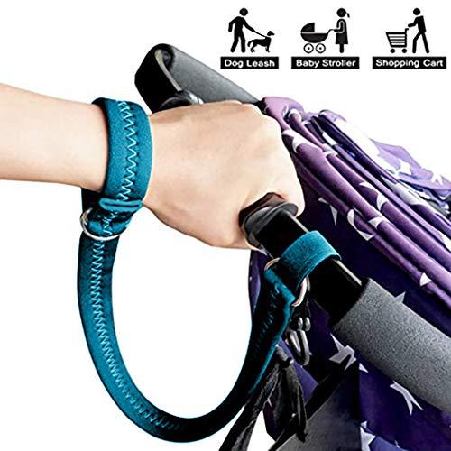 NIHAI Generic Baby Stroller Pram Safety Belt Wrist Strap, Double Layer Design, Soft and Sturdy, Adjustable Wrist, 49x2.5cm