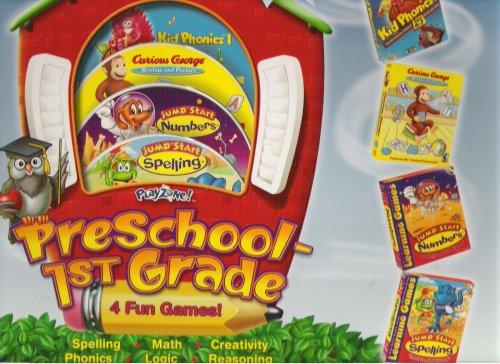 Playzone Preschool-1st Grade CD-Rom 4 Disc Set (Jumpstart Set)