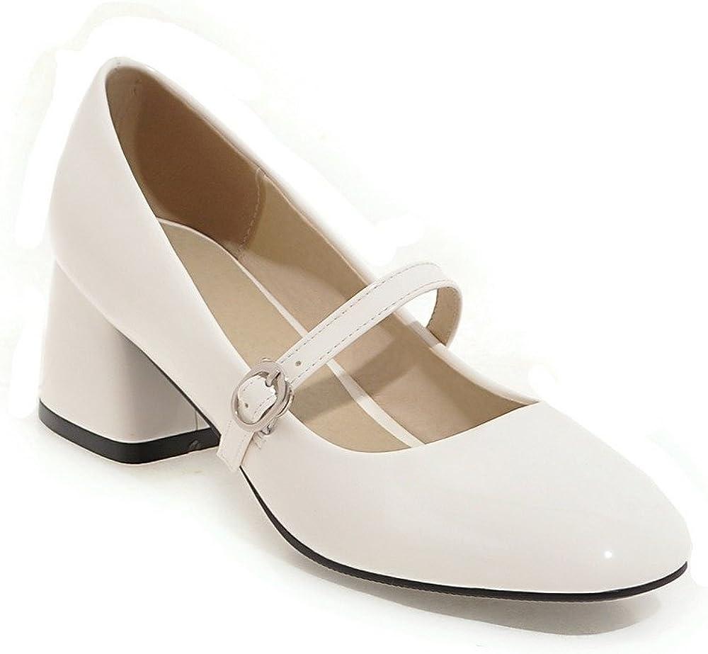 Plus Taille Bout Carré Femme Chaussures Talon Massif Bride Cheville Escarpins Preppy Mary Jane