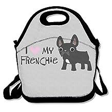 JingleBoo French Bulldog Love Lunch Tote Bag for Men Women Kids