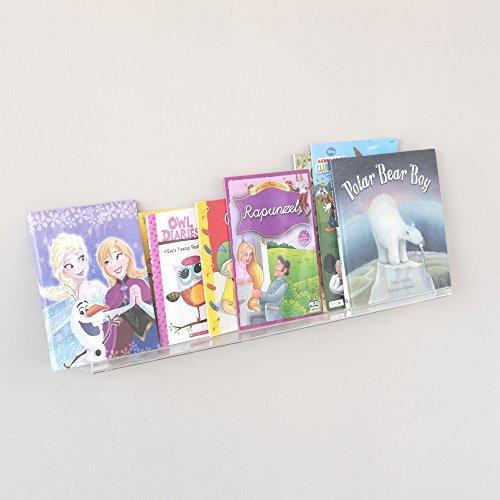 Soporte de pared estantería flotante Wider Invisible acrílico libro de almacenamiento de visualización para habitación...