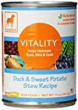 Dogswell Vitality for Dogs, Duck & Sweet Potato Stew Recipe, 13-Ounce Cans (Pack of 12) Review
