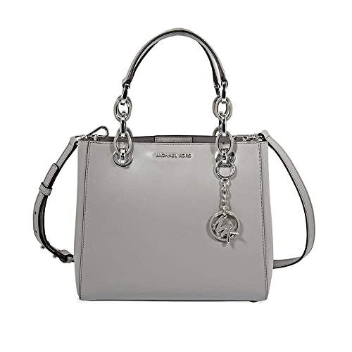 a3b31aa805bb Michael Kors Cynthia Small Dressy Satchel, Pearl Grey: Amazon.co.uk ...