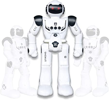 Vindany Inteligente RC Robot Juguete Control Remoto Gesto Robot Kit con programación Intelectual, Cantando y Bailando Robots Recargables multifuncionales para niños (Negro)