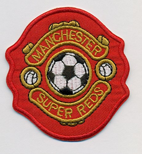 Manchester Super Red Soccer Logo Embroidered Iron On Patches Hat Jersey 2 1/2 x 2 1/2