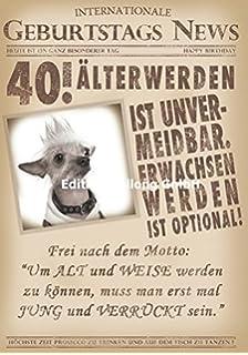 Geburtstagskarte Xxl Zum 40 Geburtstag Witzig Umschlag Amazon