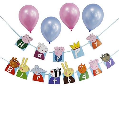Check Out This Peppa Pig Theme Birthday Party Decoration For Kids Happy Birthday Party Banner Suppli...
