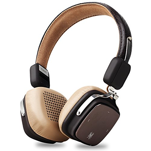 Hd Stereo Headset (Bluetooth Headphones, OneOdio On Ear HD Noise Canceling Wireless Stereo Headset with Microphone and Volume Control for PC/Cell Phone, CVC 6.0, BT 4.1 [17+ Hrs. of Playback Time] - (Brown Beige))