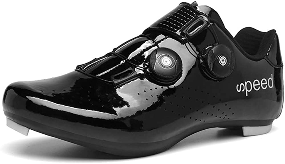 BETOOSEN Breathable Road Bike Cycling Shoes MTB Spin Bicycle Shoes Mens Womens with Quick lace Self-Locking Compatible SPD Cleats