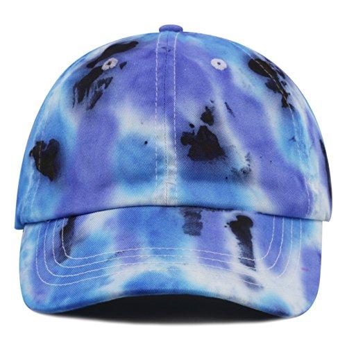 The Hat Depot New Variety Tie Dye Low Profile Cotton Baseball Cap (E)