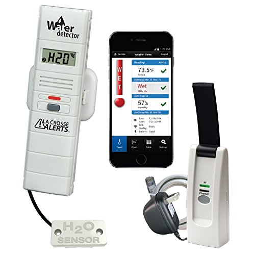 La Crosse Alerts Mobile 926-25104-WGB Wireless Monitor System Set with Water Leak Probe