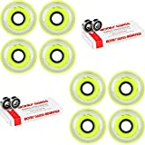 Labeda Millennium Gripper Yellow Hockey Inline Wheels 72mm X-SOFT 8 Pack Swiss