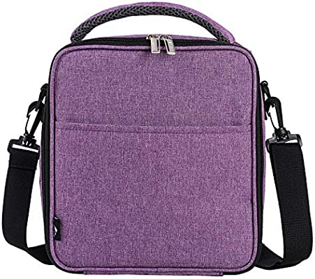 E-manis Insulated Lunch Bag Lunch Box Cooler Bag with Shoulder Strap for Men  Women Kids (purple) f065d01bf1ec5