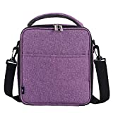 E-manis Insulated Lunch Bag Lunch Box Cooler Bag with Shoulder Strap for Men Women Kids (purple)