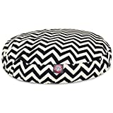 Majestic Pet Black Chevron Small Round Indoor Outdoor Pet Dog Bed With Removable Washable Cover By Products