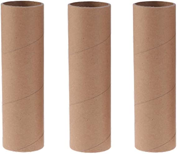 Worown 60 Pack 3.9 Inches White Craft Rolls Sturdy Cardboard Tubes for DIY Creative Handmade Projects