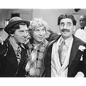 "Globe Photos ArtPrints Marx Brothers Portrait Of Three Men Smiling Photograph Print - 10"" X 8"" Pop Culture Art Photographic Full Bleed Print - Premium Paper"
