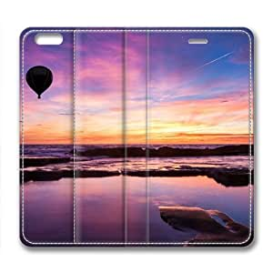 Nice Coastline Leather Cover for iPhone 6 Plus by Cases & Mousepads