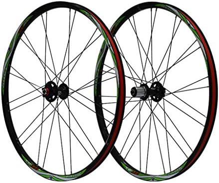 """GXFWJD 自転車ホイールセット26"""" 自転車の車輪 MTB ダブルウォールアロイリム タイヤ1.5-2.1"""" ディスクブレーキ 7-11速度 シールドベアリングハブ クイックリリース"""