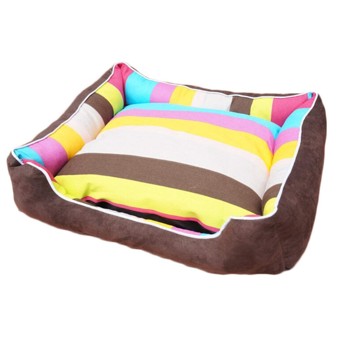 Big color 405015 Big color 405015 RABILTY Kennel Removable Washable Four Seasons Available Teddy golden Retriever Pet Supplies Cat Litter Dog Bed (color   Big color, Size   40  50  15)