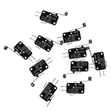 SODIAL(R) 10 Pcs Micro Limit Switch Long Hinge Roller Lever Arm Snap Action LOT