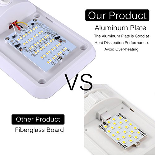 AutoEC LED Dome Light, 2 Color Mode 12V LED RV Ceiling Dome Light Fixture,  Interior Replacement Light for RV, Trailer, Camper, Motorhome, Boat (2