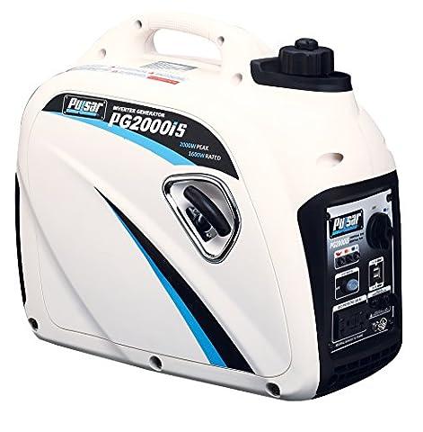 Pulsar PG2000iS 2000W Peak 1600W Rated Portable Gas-Powered Inverter Generator (Power Gas Generator)