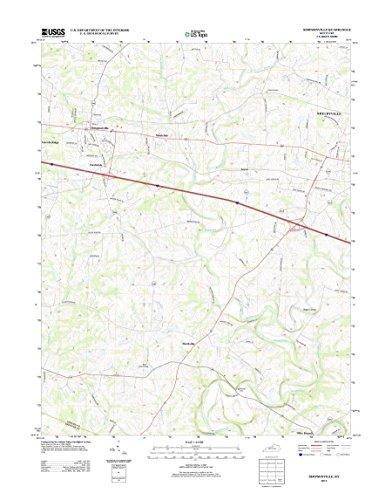 Topographic Map Poster - SIMPSONVILLE, KY TNM GEOPDF 7.5X7.5 GRID 24000-SCALE TM 2012 16
