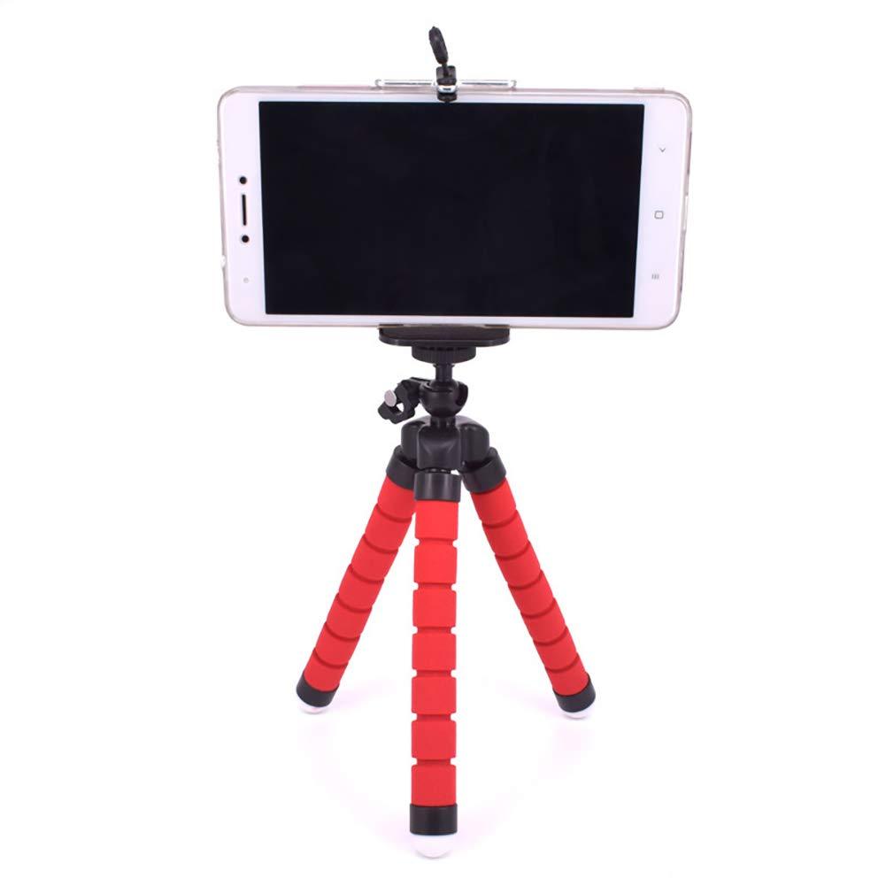 appareil photo support de pieuvre pour iPhone Support pour tr/épied pour t/él/éphone cellulaire Mini Support de t/él/éphone paresseux de pieuvre Noir Samsung support flexible pour t/él/éphone portable